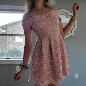 Francesca S Pink Lace Dress